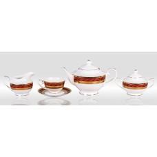 """Сервиз чайный """"Королевский рубин"""" 17 предметов на 6 персон"""