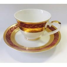 """Набор чашек для кофе на 2 персоны """"Королевский Рубин"""""""
