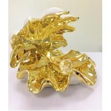 """Фарфоровая статуэтка """"Ракушка с кристаллом"""" 22 см"""