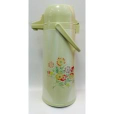 """Термос """"Полевые цветы"""" с помпой на 2,5 литра"""