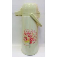 """Термос """"Розовые цветы"""" с помпой на 2,5 литра"""